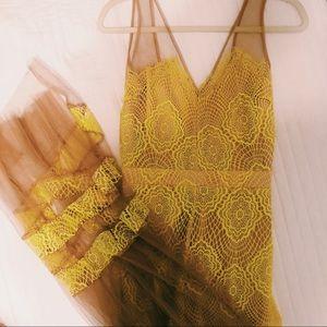 Yellow Lace Dress